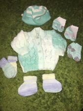 Bébé garçon cardigan chapeau gants doux chaussures chaussettes nouveau notags taille 0-3 mois reborn?
