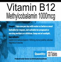 Vitamin B12 Methylcobalamin 1000mcg Tablets High Strength Immune Fatigue x 120