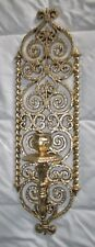 Vintage Burwood Gold Ornate Wall Candle Holder Sconce #4976