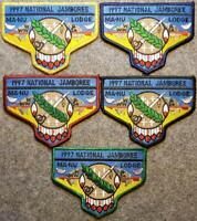 1997 National Jamboree Lodge 133 Ma-Nu Full Set Last Frontier Council OA/BSA