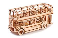 Wooden City 3d Puzzle Building Mechanical London Bus Model Wr303