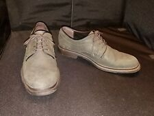 "LN~ Aston Grey Collection ~ Mens 10.5~ Dark Grey Buck Lea Laced ""Freeport"" Oxfor"