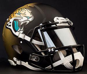 JACKSONVILLE JAGUARS NFL Gameday REPLICA Football Helmet w/ MIRROR Eye Shield