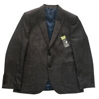 M&S COLLECTION Slim Fit Textured Jacket in Charcoal Size 42 in Short NEW RRP £79