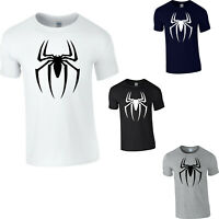Spiderman Logo T-Shirt Superhero Marvel Comics Avengers Gift Adult Kids Tee Top