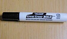 LOT OF FORTY (40) BIC GREAT ERASE BOLD DRY ERASE MARKER BLACK CHISEL TIP NEW