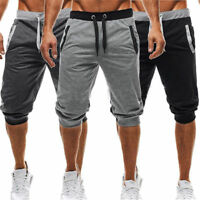 Men's Sweatpants Casual Summer Shorts 3/4 Short Sport Jogger Pants Fitness Harem