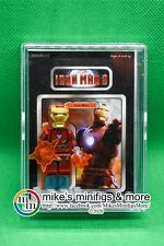 IRON MAN Custom Carded Minifigure Display Mini-Figure MCU Marvel Avengers