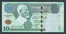 F.C. LIBIA LIBYA , 10 DINARES 2004 , MBC+ ( VF+ ) , P.70a .