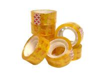 8 x Golden Tape Roll Desktop Tape Dispenser Packing Tapes 18mm x 25m UK STOCK