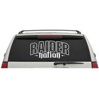 Las Vegas Raiders Raider Nation Logo Door Car Truck Suv Vinyl Sticker Decal V07