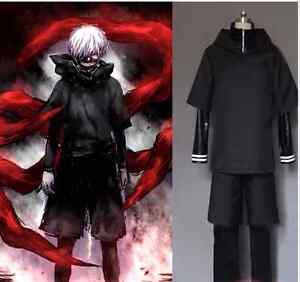 Full Outfit!Tokyo Ghoul Kaneki Ken Hoodie Sweater Cosplay Costume