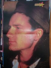 """U2 Bono in a wooly hat Centerfold magazine POSTER  17x11"""""""
