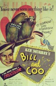 BILL AND COO-All Animal (Mostly Bird) Cast-1948-Ken Murray-Bartons' Birds-DVDR