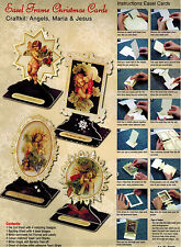 CHRISTMAS EASEL KIT PAPER TOLE DIMENSIONAL GERMANY CARD ORNAMENT RELIGIOUS