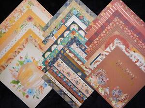 12X12 Scrapbook Paper Cardstock Fall Autumn Harvest Thanksgiving Turkey 24 Lot
