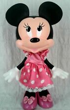 "Disney Minnie Mouse Doll Figure 12"" Poseable Hard Plastic Pink Shoes Dress"
