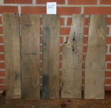 """5 pc RECLAIMED  WORMY CHESTNUT LUMBER WOOD  7/8"""" THICK CRAFTING FREE SHIP"""