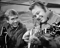"""BUCK OWENS AND ROY CLARK AS HOSTS OF """"HEE-HAW"""" - 8X10 PUBLICITY PHOTO (AA-465)"""