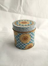 Vintage Avon 1990 Skin So Soft Refillable Candle Sunflower Blue Yellow Tin Empty