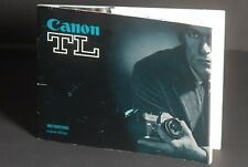 Canon TL 1968 Camera Instruction Book / Manual / User Guide