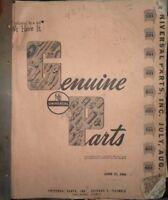 1940s Universal Parts Catalog Manual