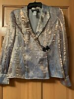Elegant Alex Women's Blazer Evening Jacket Shoulder Pads Sz M Any Event Weddings