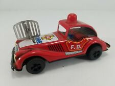 Vintage Sanko Made In Japan Tin Wind Up Fire Chief Truck Engine