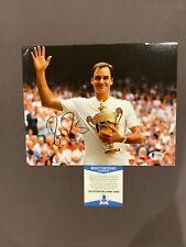 BECKETT COA! ROGER FEDERER Signed Autographed 8x10 Photo Tennis Wimbledon