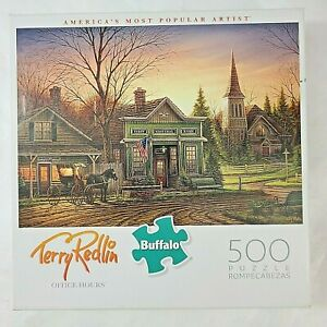 """TERRY REDLIN 500 PIECE """"OFFICE HOURS"""" - Buffalo Jigsaw Puzzle SHIPS FREE & FAST!"""