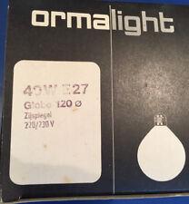 ormalight Globo G120 E27 seitenverspiegelt PLATA 40w G125 Bombilla zijspiegel