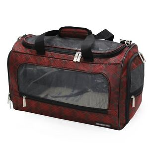 Bill Blass Burgundy Pet Duffel Travel Carrier
