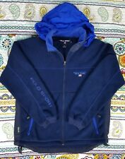Ralph Lauren Polo Sport Vintage Thermal Pro Hoodie Jacket Fleece M Spell Out 90s