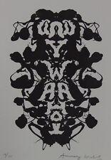 Limited Fine POP ART Rorschach Psychogram Silkscreen Warhol signed & stamped