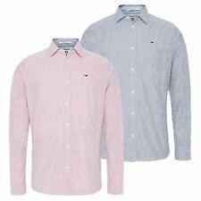 Tommy Hilfiger Men Seersucker Cotton Long Sleeve Casual Striped Shirt M L XL 2XL