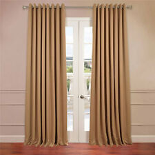 Grommet Doublewide Blackout Curtain, Alpaca Tan (Brown) 2 piece