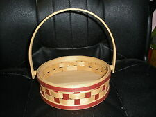 Longaberger 2006 Red/Natural Small Pie Basket NEVER USED
