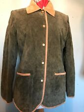 Womans Rowlands Hunting/Shooting/game Jacket Green Suede