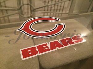 Chicago Bears Sticker Decal Vinyl Sign NFL Football #DaBears *3 Sizes*