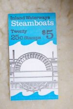 Steamboats Booklet Stamps FullBook Issued 3/3/89 Scott# Bk166 Pl# 1 or 2