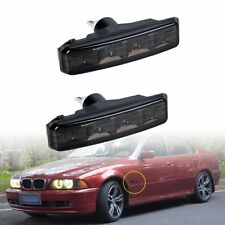 4-LED Smoke Side Marker Amber Light T10 Fit For BMW E39 M5 525i 528i 540i 97-03