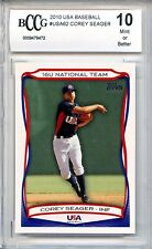 COREY SEAGER Dodgers 2010 Topps USA Baseball 1st rookie BGS BCCG 10 MINT graded!