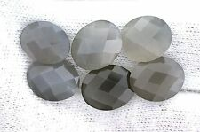 ONE 12x10 12mm x 10mm Checkerboard Oval Gray Moonstone Cabochon Cab Gemstone Gem