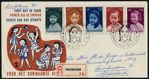 Surinam B94-8 on Registered FDC - American Indian Children