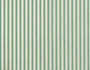 """NEW Gathered 18"""" French Country Ticking Stripe Pool Blue-Green Queen Bedskirt"""
