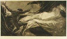 ALOIS KOLB - Kampf um eine Schlafende - Radierung / Aquatinta 1920