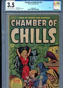 CHAMBER OF CHILLS 21 (#1)  1951  FIRST ISSUE...CGC  3.5  BONDAGE COVER