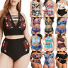 Plus Size Women High Waist Bikini Set Swimwear Swimsuit Bathing Suit Beach Wear