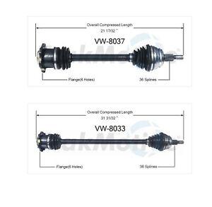 🔥SurTrack Set od 2 Front Left & Right CV Axle Shaft For Audi TT VW Jetta🔥
