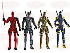 "4x  Deadpool X Men Superhero Wade Wilson Action Figure Kid Toy 7"" Birthday Gift"